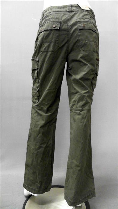Creative Denim Fitted Narrow Skinny Womens Straight Leg Trousers Cargo Pants