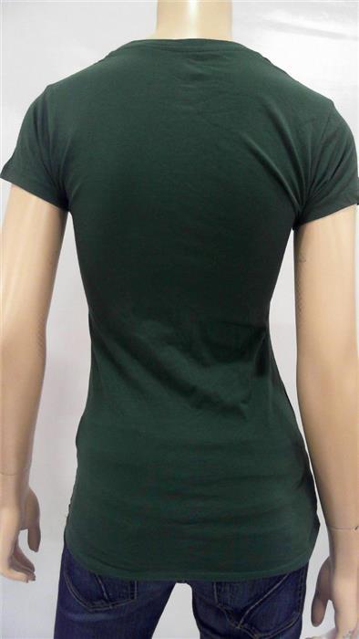 NCAA University South Florida Bulls Womens S Cotton Shirt Top Green CHOP 32TYz1