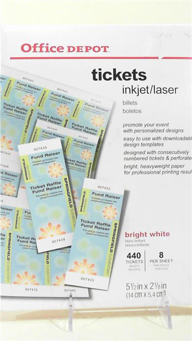 Perforated Ticket Card Stock
