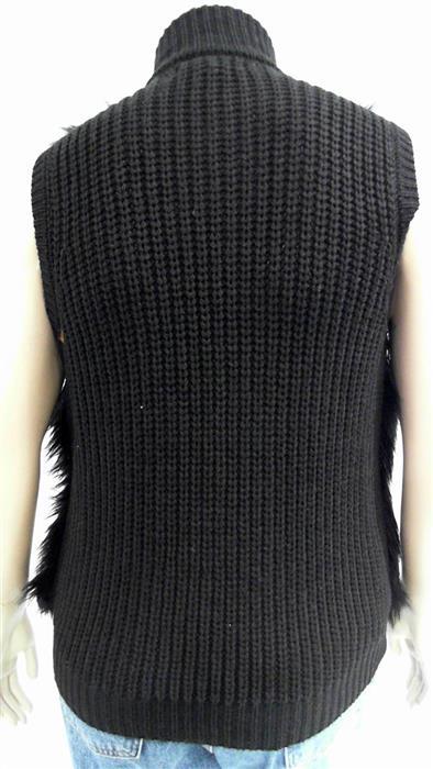 Michael Kors NEW Womens XL Faux Fur Zip Front Stand Collar Basic Top CHOP 3BXYz2