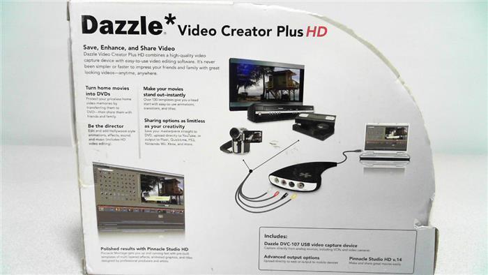 Pinnacle Dazzle Video Creator Plus Convert Black 82301006461SC CHOP 3CIHz1